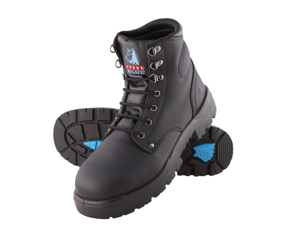 67141c6fef6 Steel Blue Argyle Lace up Safety Boot 312102