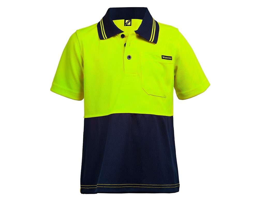 Hi Visibility Short Sleeve Kids Polo Shirt