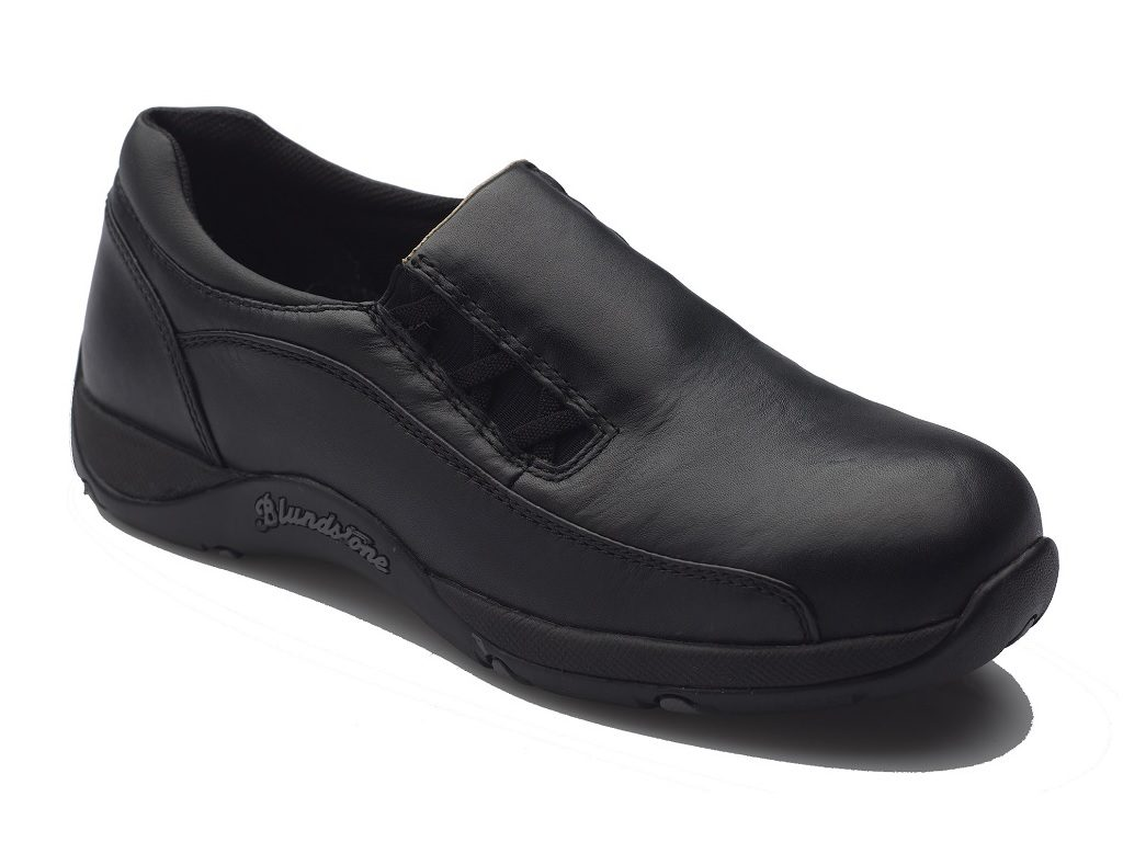 Blundstone Ladies Black Slip On Safety Shoe B743
