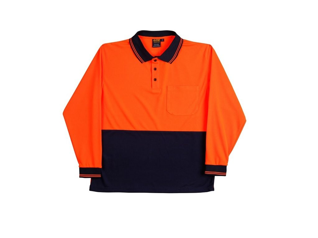 HI VISIBILITY COOLDRY LONG SLEEVE POLO
