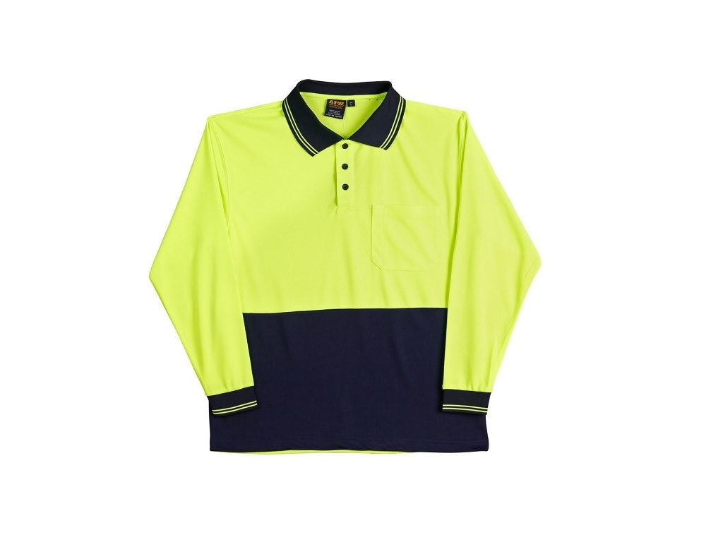 OOLDRY LONG SLEEVE HI VISIBILITY POLO